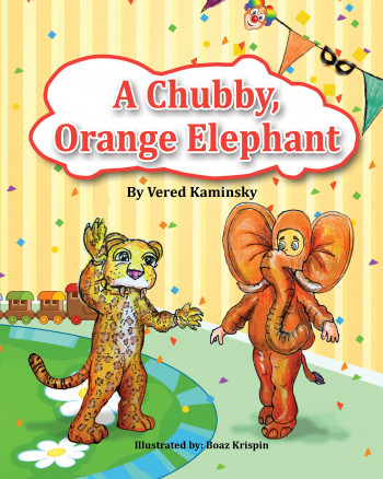 An orange, chubby elephant