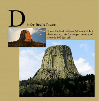 D is for Devils Tower
