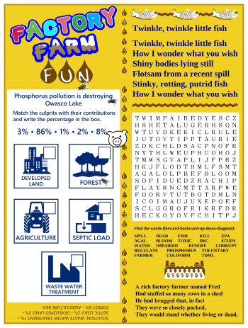 """Factory Farm Fun"" Activity Page"