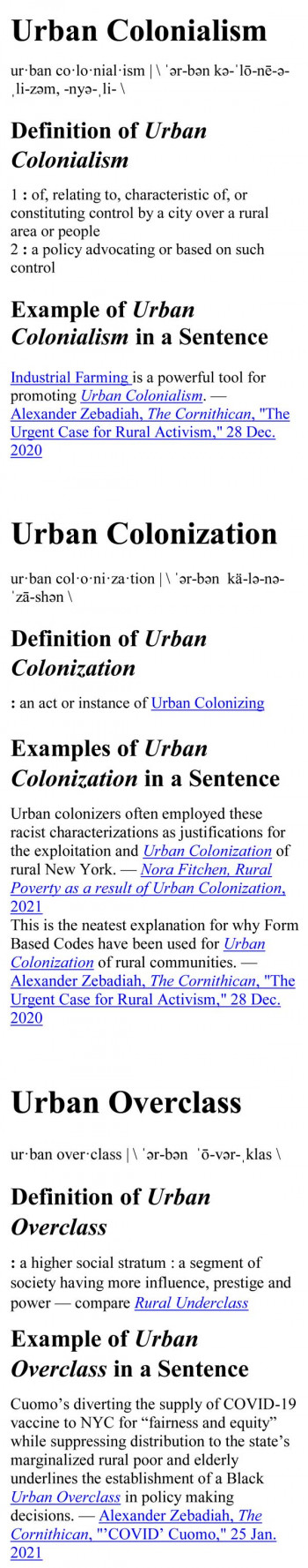 """Rise of the Evil Ones"" – ""Urban Colonialism"""